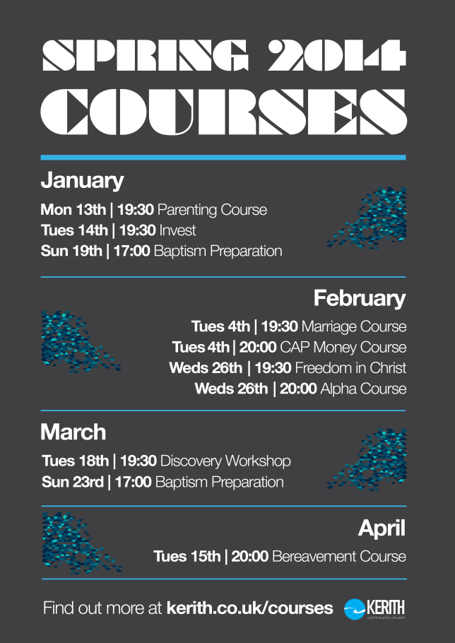 Spring Term Courses Poster